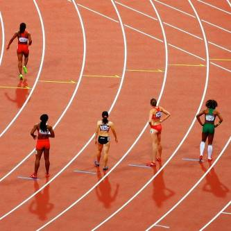 the importance of a competitor analysis- competitors on running track