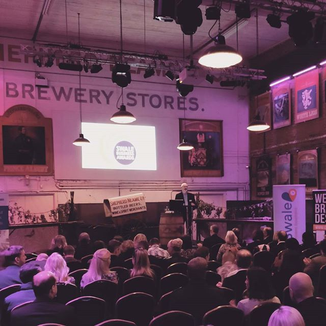 Last night we attended the launch of the 2019 Swale Business Awards at @ShepherdNeame in #Faversham. Excellent choice of venue, if a little purple for the photo we took! Great to meet other local businesses and hear about #Brexit projections 💤 😂 in the keynote speech from The Bank of England. Good luck to all entrants of this year's awards. We hope to see you at the gala dinner 🤞 . . . . #swale #swalebusiness #swalebusinessawards #shepherdneame #shepherdneamebrewery #shepherdneame #faversham #kent #favershamcreek #kentbusiness #kentbusinesses