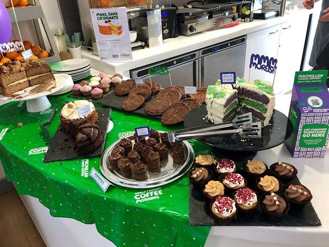 We just had to pop over to The Hub and support the @macmillancancer #macmilliancoffeemorning today! 💚 Some delicious treats and all for a great cause 😋🍰☕ . . #macmillancoffeemorning #macmillan #macmillancancersupport #worldsbiggestcoffeemorning #charity #cake #officetreats #coffeemorning #fridaymood #kentbusiness #kentsciencepark #agencylife